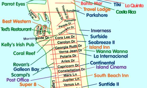 South Padre Island Map End